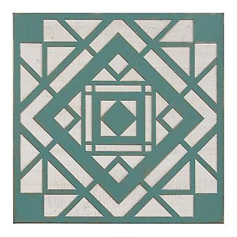 Green Aztec Metal & Wood Wall Decor