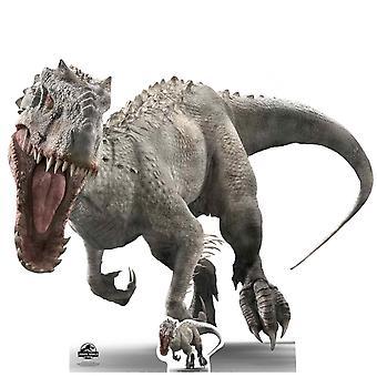 Indominus Rex rugissement Style officiel monde Jurassique Lifesize carton découpe / voyageur debout
