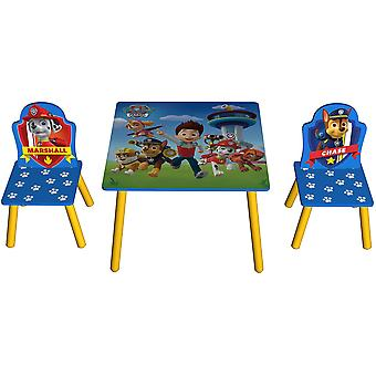 Kiddi Style Paw Patrol Table 2 Chairs Set