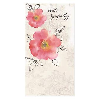Hallmark With Sympathy Floral Design Bereavement Card 11354971