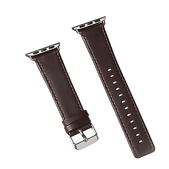 40mm,38mm pour Apple Watch Series 1,2,3 et 4 Genuine Leather Strap Brown