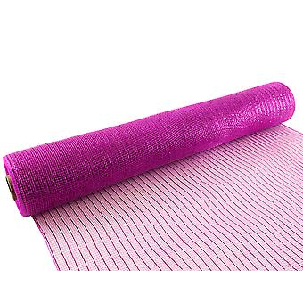 Metallic Fuchsia Pink 53cm x 9.1m Deco Mesh Roll for Wreath Making & Floristry Crafts