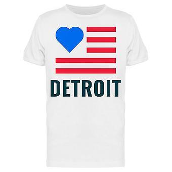 Love City Detroit Tee Men's -Bild von Shutterstock