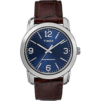Tw2R86800, Timex Tw2R86800 Men'S Brown Croco Print Leather Strap Watch