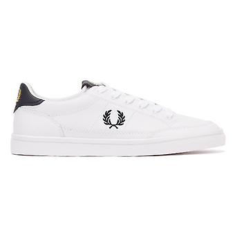 Fred Perry Deuce Leather Mens White / Navy Trainers