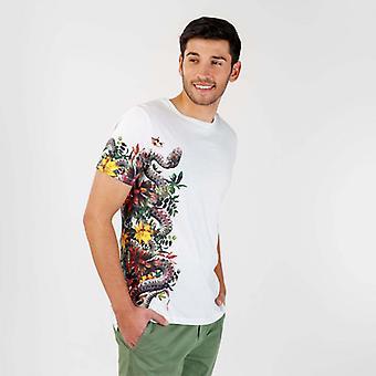 Camiseta de cobra branca