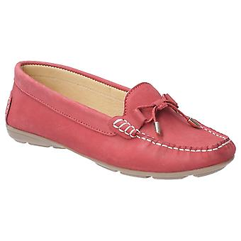 Hush Puppies Womens Maggie Slip On Toggle Shoe Red
