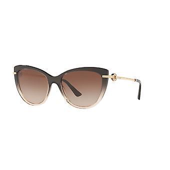 Bvlgari BV8218B 545013 Óculos de Sol de Gradiente Preto/Degradê Marrom