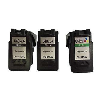 Pack valeur remanufacturée 2x PG640XL Noir 1x CL641XL Couleur Nouvelle Puce