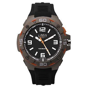 Limit Men's Black Rubber Strap | Black Dial 5788.65 Horloge