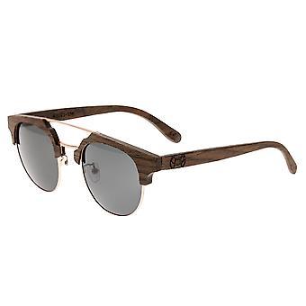 Earth Wood Kai Polarized Sunglasses - Walnut Zebrawood/Black