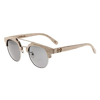 Earth Wood Kai Polarized Sunglasses - Beige/Silver