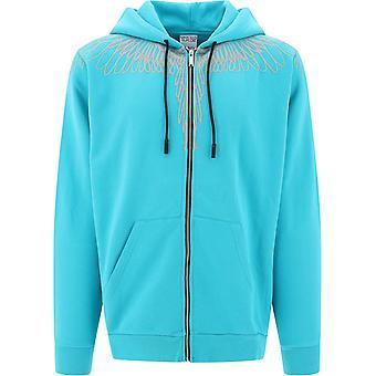 Marcelo Burlon Cmbe001e20fle024361 Men's Light Blue Cotton Sweatshirt