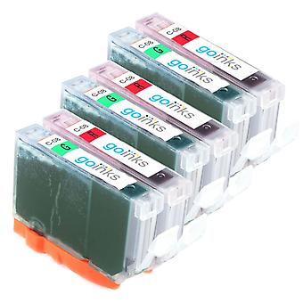 3 Compatible Sets of Canon CLI-8R & CLI-8G Printer Ink Cartridges (Red & Green)