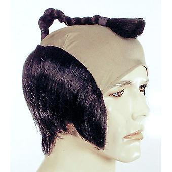 Samuraj peruk svart