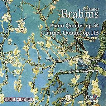 Budapest String Quartet - Brahms: Clarinet Quintet & Piano Quintet [CD] USA import