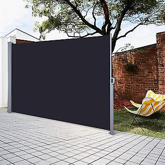 """Yescom 63"""" x 118"""" Outdoor Patio Retractable Side Awning Waterproof Sun Shade Wind Screen Privacy Divider Black"""