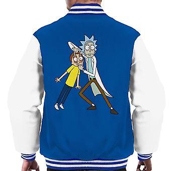 Rick and Morty Look Morty Men's Varsity Jacket