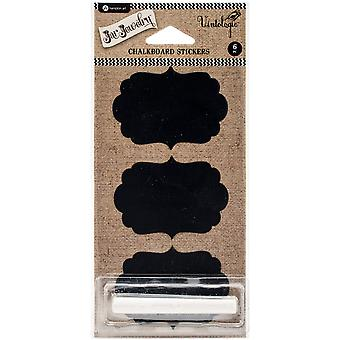 Chalkboard Stickers 6/Pkg-Shapes