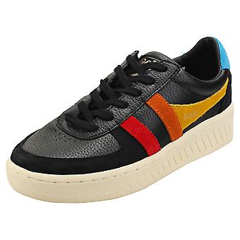 Gola Grandslam Trident Womens Fashion Trainers in Black Multicolour