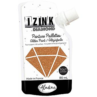 Aladine Izink Diamond Glitter Paint Copper 80ml.