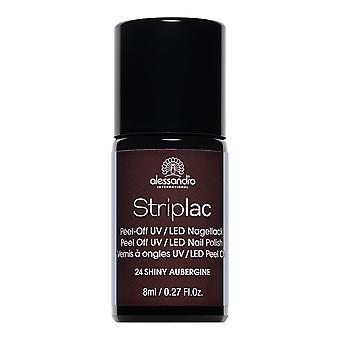 StripLAC Peel Off UV LED Nail Polish - Shiny Aubergine (24) 8ml