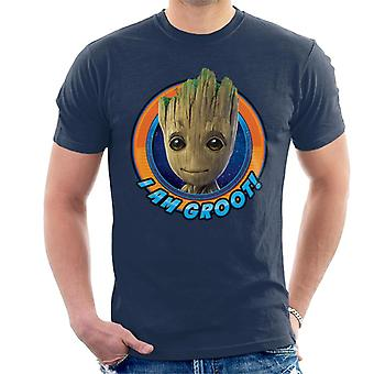 Marvel Guardians Of The Galaxy Vol 2 I Am Groot Smiling Men's T-Shirt