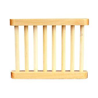 Natürliche Bambus Holz und tragbare Seifenschalen Tablett