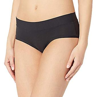 Merk - Mae Women&s Standard 3 Pack Perfect FIT Hipster, as/Jet Black, Tawny Birch, EXTRA LARGE