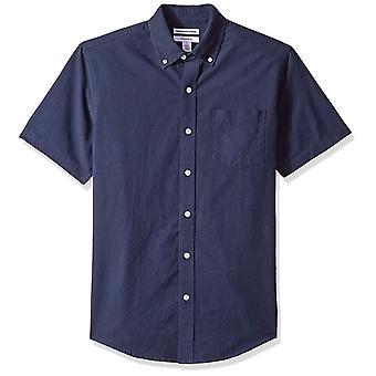 أساسيات الرجال & apos;ق سليم صالح قصيرة الأكمام جيب قميص أكسفورد, البحرية, X-لا ...