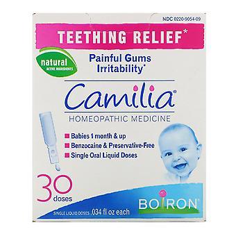 Boiron, Camilia, Teething Relief, 30 Single Liquid Doses, .034 fl oz Each