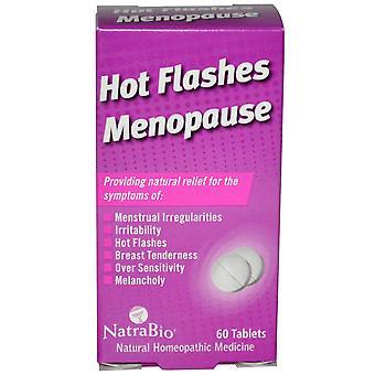 NatraBio, Hot Flashes Menopause, 60 Tablets