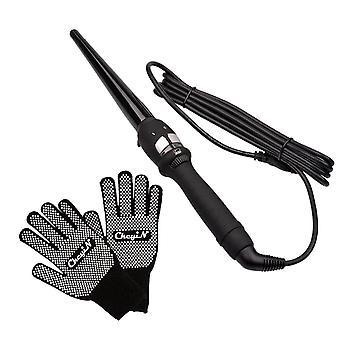 Nye 14-25mm hår curlers styling verktøy rask oppvarming (svart)