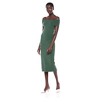 Lark & Ro Frauen's aus der Schulter Mantel Pullover Kleid, Piniennadel, Medium