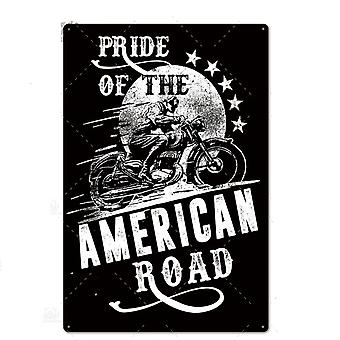 Motorcycle Tin Signs - Wall Decor For Garage, Bar, Pub, Iron Plate Painting