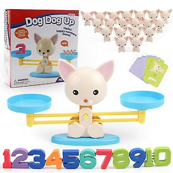 Montessori Math Match Game Board Monkey / Puppy Balancing Scale Number Balance Baby Toy