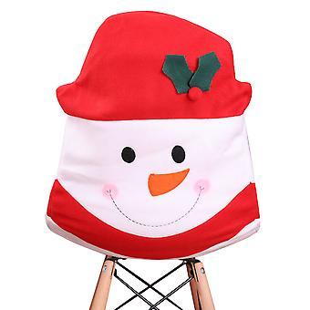 YANGFAN Velvet Protective Christmas Snowman Chair Seat Cover