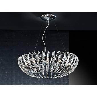 12 Light Crystal Sufit Wisiorek Chrom, G9