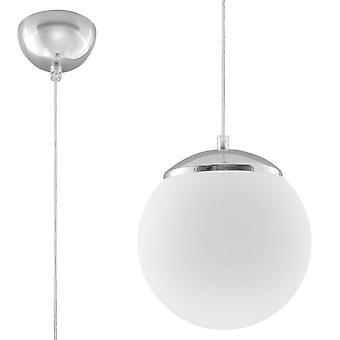 1 Lichte Bol Hanger Wit, Chrome, E27