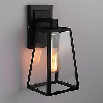 Vintage Outdoor Waterproof Wall Lamps - Led 7w Iron Glass Luminaria Porch Light (black Black)