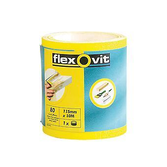 Flexovit High Performance Sanding Roll 115mm x 5m Fine 120g FLV69921