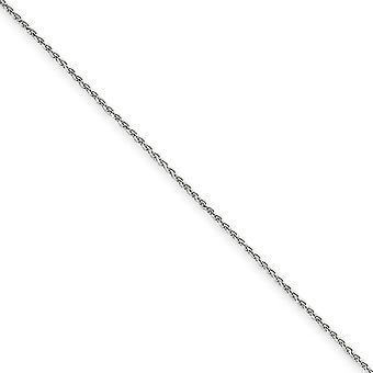 14k valkoinen kulta hummeri kynsien sulkeminen 1,2 mm kiinteä kimallus leikattu spiga ketjun kaulakoru - pituus: 14-22