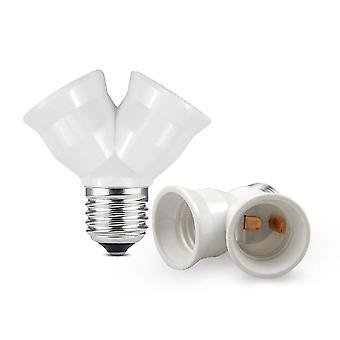E27 Držák adaptérové lampy E27 až 2 E27 LED Y tvar -nový ohnivzdorný Materia