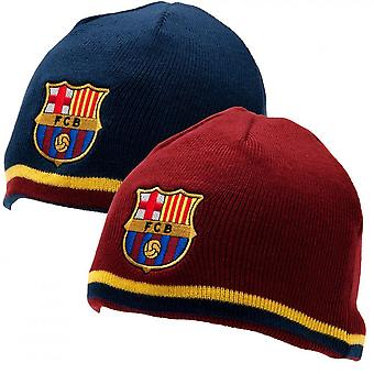 FC Barcelona Official Adults Unisex Reversible Knitted Hat