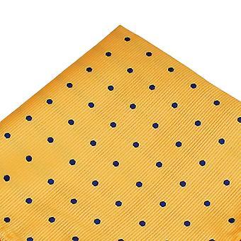 Krawatten Planet gelb & Marine blau Polka Dot Tasche Platz Taschentuch