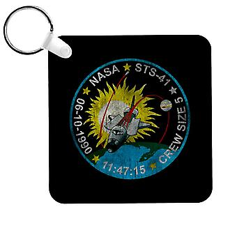 NASA STS 41 Discovery Mission Badge Distressed Keyring