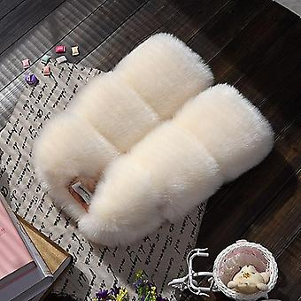 Faux Fur Vest, Elegant Princess Warm Thick Coat
