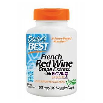 Doctors Best Best French Grape Extract, 60 mg, 90 Veggie Caps