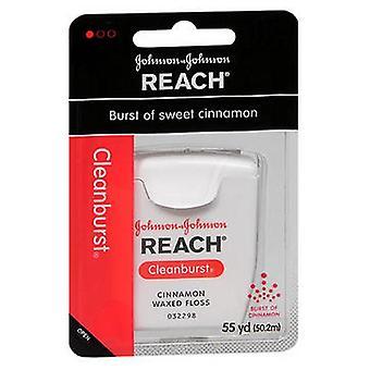 Johnson & Johnson Reach Dental Floss, Waxed Cinnamon 1 each