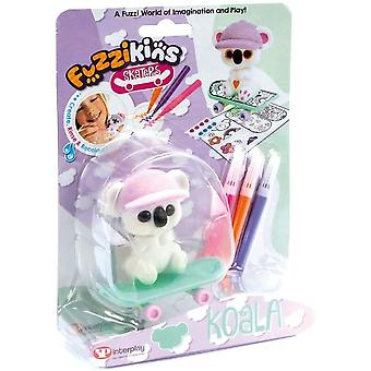 Fuzzikins fuzzi Baby Koala and decorate their skateboard and accessories, for